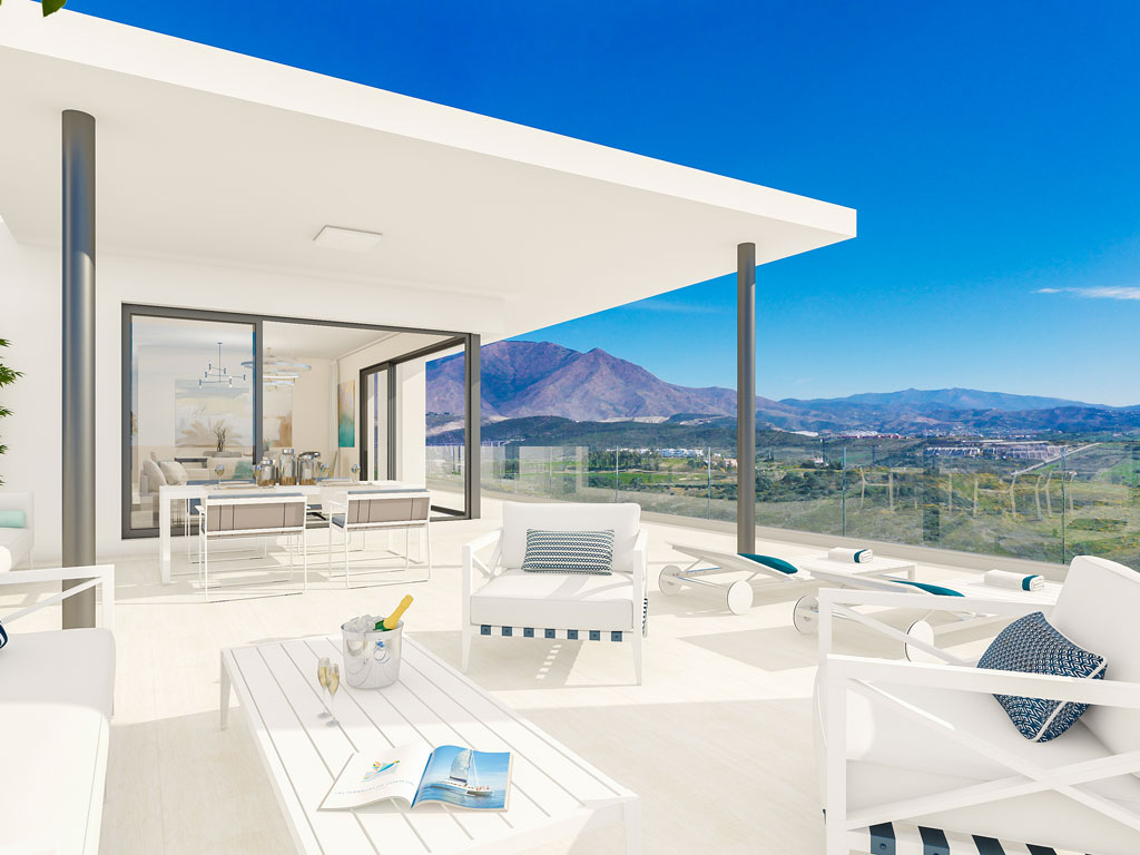 Apartments penthouses casares for sale terrace