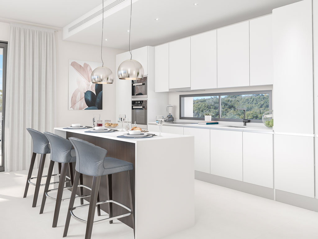 Apartments penthouses casares for sale kitchen