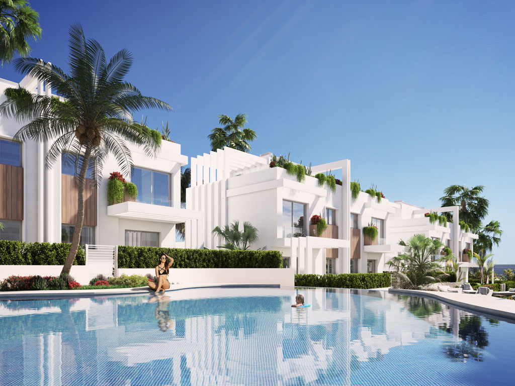 from pool Casares new developments for sale