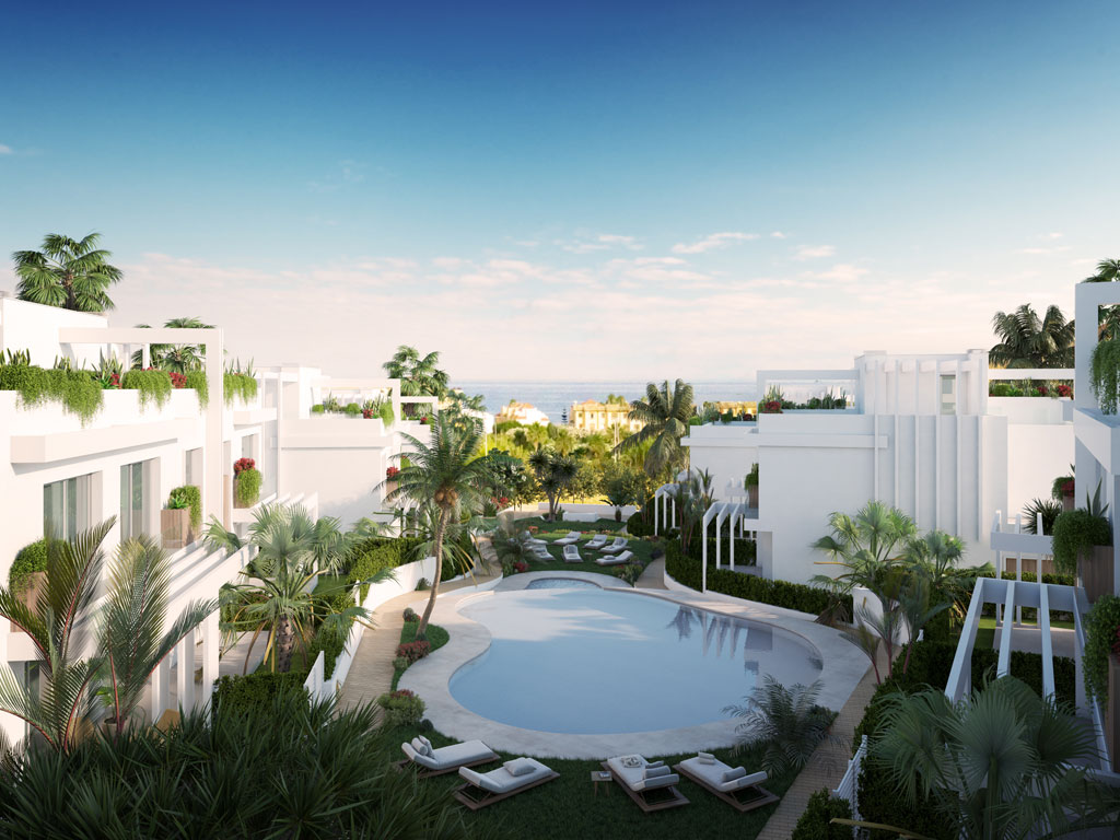 pool view Casares new developments for sale
