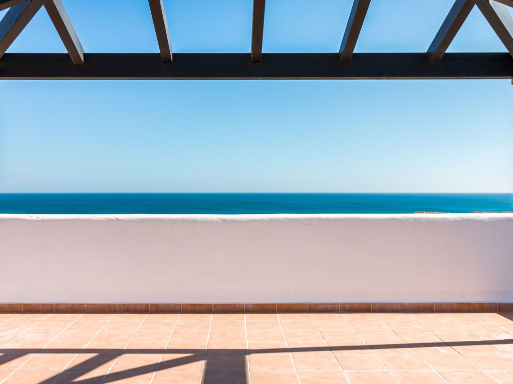 views terrace new build property Casares