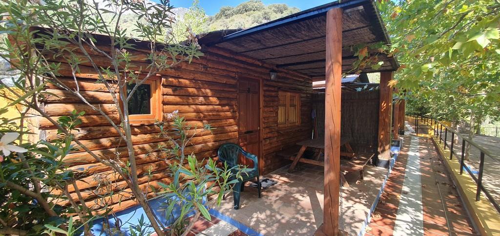 wooden house camp site serrania de ronda