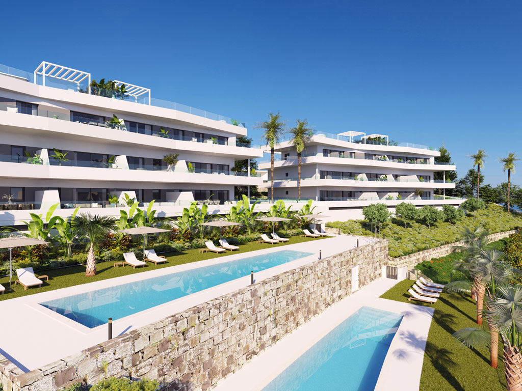 New development estepona penhouses apartments sea views